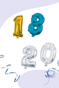 Numeral Foil Balloons by Procos