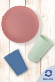 Solid Color Reusable Tableware by Procos