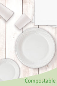 White Compostable Products by Procos