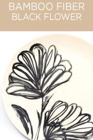Decorata™ Bamboo Fiber Black Flower Set by Procos