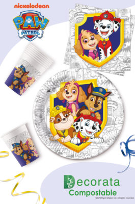 Paw Patrol Yelp For Action Compostable by Procos