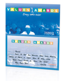 Tesco Values Award - Procos
