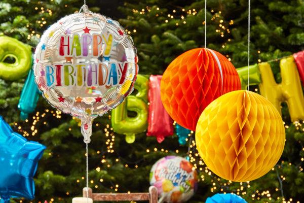 Colorful foil ballons!
