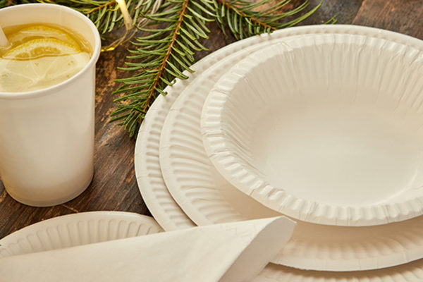 Eco friendly white tableware!