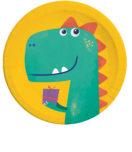 Dino Roar - Paper Plates 23 cm - 90246