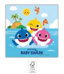 Baby Shark - Three-Ply Paper Napkins 33x33 cm FSC. - 92542