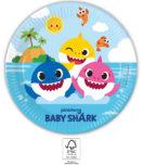 Baby Shark - Paper Plates 23 cm. FSC. - 93459