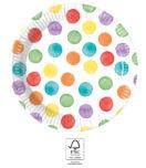 Multiwater Color Dots - Paper Plates 20 cm FSC. - 93494