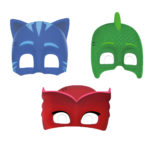 Pj Masks - Die Cut Masks (3 Mixed Designs) - 89351