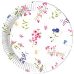 Blooming Flowers - Industrial Compostable Paper Plates 23 cm FSC - 92132