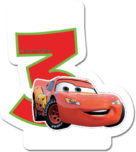 Cars The Legend of the Track - Candle No 3 - 82887