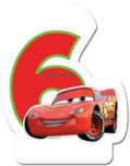 Cars The Legend of the Track - Candle No 6 - 82890