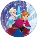 Frozen Snowflakes - Paper Plates Large 23cm