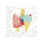 Happy Ice Cream - Two - Ply Paper Napkins 33 x 33 cm - 90236