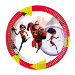Incredibles 2 - Paper Plates Large 23cm - 89914