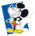 Mickey Super Cool - Die-cut Invitations & Envelopes