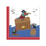 Pirates In The Sea - Two - Ply Paper Napkins 33x33 cm - 90245