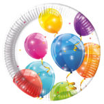 Sparkling Balloons - Paper Plates Large 23cm