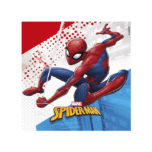 Decorata™ Compostable Spider-man Super Hero  - Home and Industrial Compostable Three-ply Paper Napkins 33x33cm  - 91508