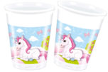 Unicorn - Plastic Cups 200ml