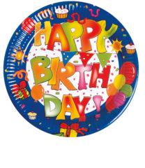 Happy Birthday Kokliko - Paper Plates 23 cm - 1536