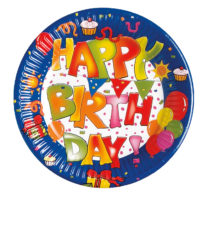 Happy Birthday Kokliko - Paper Plates 20 cm - 1562