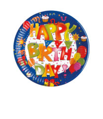 Happy Birthday Kokliko - Paper Plates 16 cm - 1563
