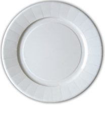 White Products - Laminated Paper Plates 28cm - 1764