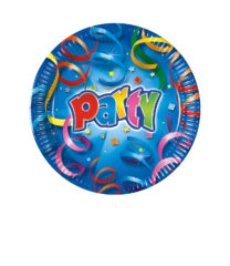 Party Streamers - Paper Plates 16 cm - 1819