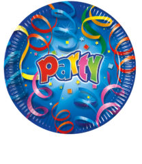 Party Streamers - Paper Plates Metallic 23 cm - 1820