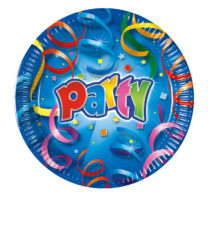 Party Streamers - Paper Plates Metallic 20 cm - 1821