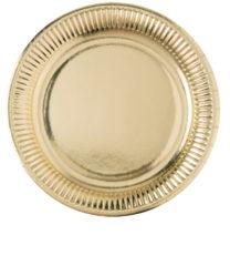 Gold - Paper Plates 23cm Gold - 1850