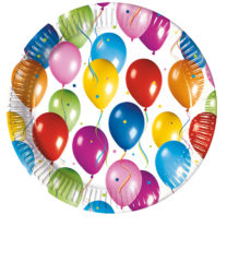 Balloons Fiesta - Paper Plates 23 cm - 2230