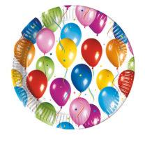 Balloons Fiesta - Paper Plates 20 cm - 2356