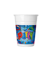 Party Streamers - Drinking Cups 200 ml - 4119