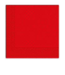 Three-ply Napkins 33 X 33 Cm / Everyday Designs - Red Squares Three-ply Napkins 33x33 cm - 7042