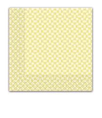 Everyday Napkin Designs - Yellow Squares Three-ply Napkins 33x33cm - 7043