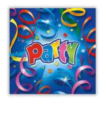 Party Streamers - Two-ply Paper Napkins 33x33 cm - 8805