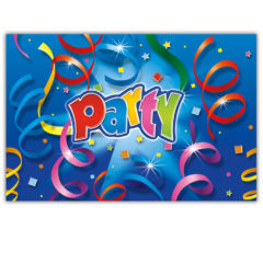 Party Streamers - Plastic Tablecover 120x180cm - 8806