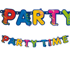"""Party Streamers - """"Party Time"""" Prismatic Die-cut Banner - 8935"""