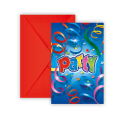 Party Streamers - Invitations & Envelopes - 8941