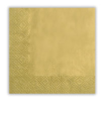 Gold - Three-ply Paper Napkins 33x33cm - 9252