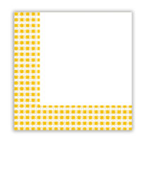 Red, Green, Yellow, Blue Squares - Two-ply Paper Napkins 33x33 cm Yellow Squares - 9394