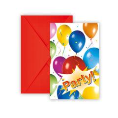 Balloons Fiesta - Invitations & Envelopes - 9716