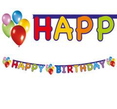 """Balloons Fiesta - """"Happy Birthday"""" Die-cut Banner - 9724"""