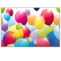 Flying Balloons - Plastic Tablecover 120x180cm - 80665