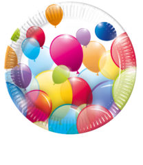 Flying Balloons - Paper Plates 23 cm - 80696