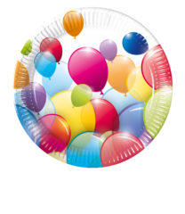 Flying Balloons - Paper Plates 20 cm - 80697