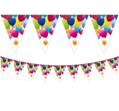 Flying Balloons - Triangle Flag Banner (9 Flags) - 80701