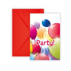 Flying Balloons - Invitations & Envelopes - 80703
